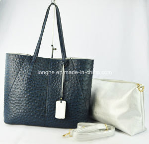 New Ostrich with Small Pouch Lady Handbag Fashion (ZX216) pictures & photos