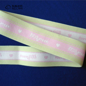 Made in China Best Quality Wide Jacquard Color Elastic Band pictures & photos