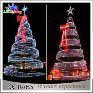 China Giant Outdoor 8m Commercial LED Spiral Christmas Tree Light ...