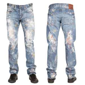 Wholesale New Fashion Men′s Pigment Dyed Denim Jeans