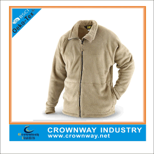Warmest Yellow Winter Full Zip Fleece Jacket for Men pictures & photos