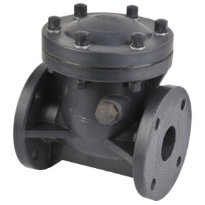 PVDF/CPVC/FRPP Swing Check Valve (H44X) ,Plastic Check Valve pictures & photos