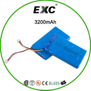 3.7V 605085 3200mAh Li-ion Polymer Battery Rechargeable Battery Pack pictures & photos