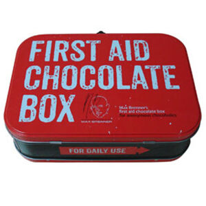 Cookie Tin Box with Higed Lid