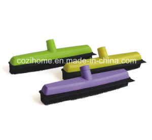 Telescopic Handle Rubber Broom (1401) pictures & photos