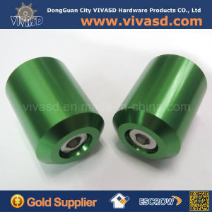 Custom Green Anodized Turning Aluminum Parts pictures & photos