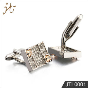 Fashion Nice Quality Men′s Cufflinks with Diamond Wholesale pictures & photos