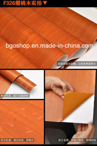 Wood Grain Self-Adhesive Vinyl/Foil (furniture film) pictures & photos
