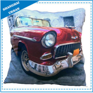 Vintage Car Printed Polyester Throw Pillow pictures & photos