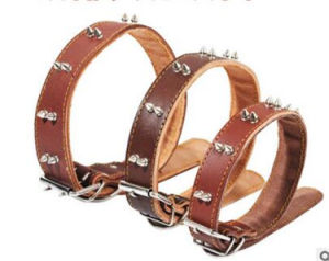 Genuine Leather Dog Leash and Collar for Large Dogs pictures & photos