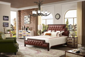 China Shunde Furniture Soft Leather Bed with Headboard Designs Jbl2016 pictures & photos