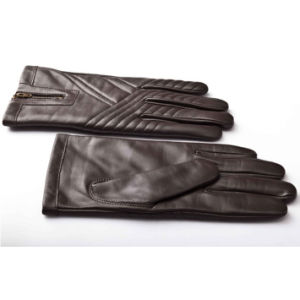 Men′s Fashion Zipper Leather Motorcycle Driving Gloves (YKY5184-3) pictures & photos