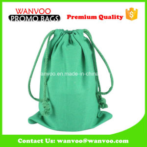 Green Reusable Colorful Phone Packing Cotton Drawstring Bag pictures & photos