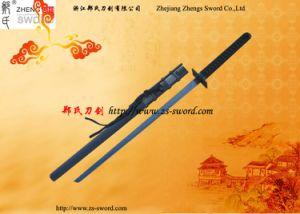 Black Real Blade with Blowing Needles Ninja Sword Cosplay Prop