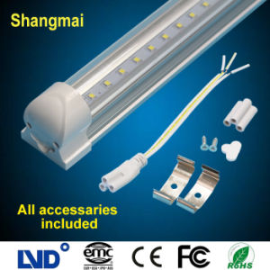 PC+Aluminum Alloy Integrated Light Cover 14W T8 LED Effect Lights Circular Lamp
