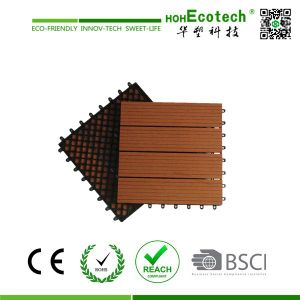 DIY Interlocking WPC Decking Tiles Interior/Exterior WPC Floor Tile (30S30) pictures & photos