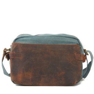 Real Leather Canvas Leisure Shoulder iPad Bag (RS-6882A) pictures & photos