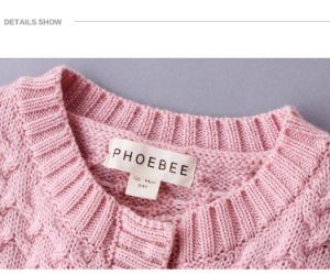 Phoebee Wholesale Kids Wear Wool Girl Jacket for Winter pictures & photos