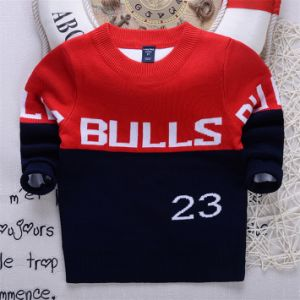 T1201 Autumn Winter Sweater Korean Style Kids Wear Pure Cotton Double-Layer Boys Baby Knitted Shirt for Wholesale pictures & photos