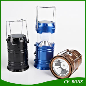 Portable Flodable Solar LED Camping Lantern Lamp with Handle pictures & photos