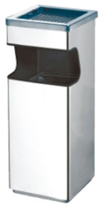 Stainless Steel Waste Bin with Grid in Top (YH-45) pictures & photos