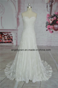 Sweetheart Wedding Dress Lace Bridal Gown pictures & photos