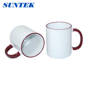 White Ceramic Coated Sublimation Coffee Cup pictures & photos