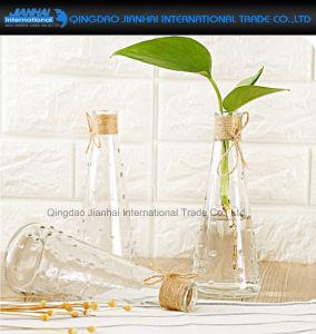 Pyramid Shape Decorative Houseware Glass Vase pictures & photos