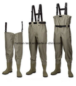 PVC Fishing Pants with PVC Boots Wader pictures & photos