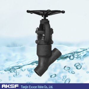 Y Pattern Forged Self-Sealing Angle Valve