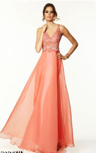 2015 Open Back Beaded Evening Bridesmaid Prom Dresses Pd9708 pictures & photos