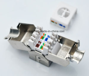 CAT6A FTP Shielded Tooless Keystone Jack 180 Degree pictures & photos