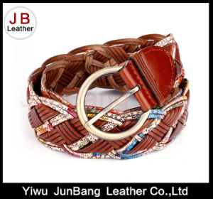 Hot Quality Women′s Bonded Leather Braid Belt pictures & photos