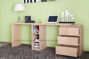 Wooden Stretchable Office Desk with Chest of Drawers and Bookcase (N701-1.8) pictures & photos