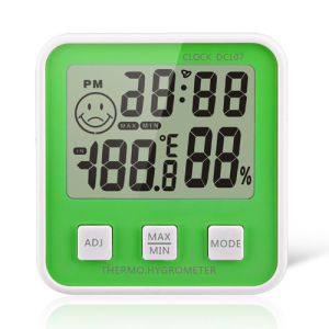Digital Thermo-Hygrometer Clock Thermohygrometer pictures & photos
