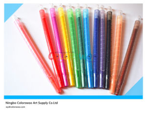 12PCS 0.7*17cm Rotatable Crayon for Kids and Students pictures & photos