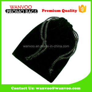 Black Frawstring Velvet Fabric Gift Packaging Jewelry Bag pictures & photos