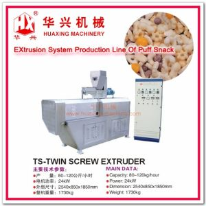 Extrusion Systems Production Line of Puff Snack (Extruder System Puff Snack/Chip/Cracker/Cheese Ball 80-120Kg/h) pictures & photos