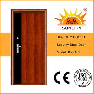 2016 New Design Nigeria Steel Security Door (SC-S102) pictures & photos
