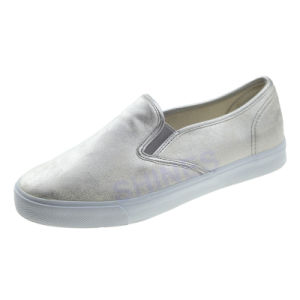 Silver PU Casual Slip on Fashion Vulcanized for Women