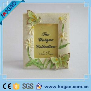 Resin Photo Frame Beautiful Flowers and Butterfly Decoration pictures & photos
