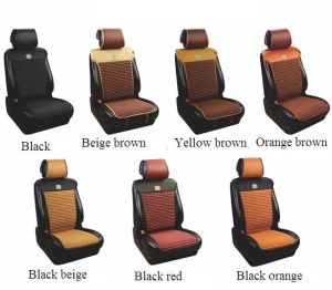 Car Seat Cover Flat Four Season PU Leather Beige Brown pictures & photos