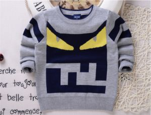T1234 Fashion Kids Clothing 100% Cotton Round Neck Shirts Double-Layer Soft and Thick Boy Cartoon Long Sleeve Sweater Pullover Knitted Shirt pictures & photos