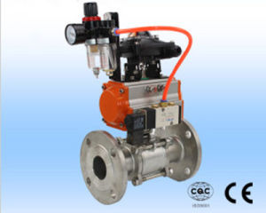Pneumatic Actuator and 3PC Stainless Steel Ball Valve pictures & photos