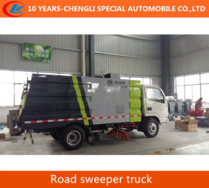 Dongfeng 4*2 electric Road Street Cleaning Sweeper Truck pictures & photos