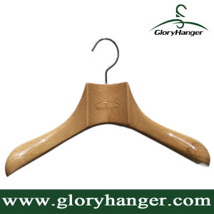 Customised Luxury Beech Wood Coat Hanger -Fashion Display (GLWH226) pictures & photos
