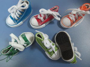 Custom Hot Sell PVC & Canvas Mini Toy Shoe for Promotion pictures & photos