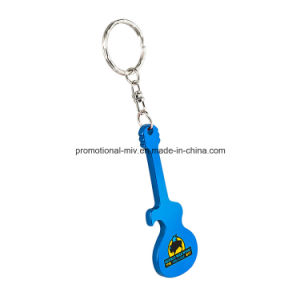 Promotional Aluminum Bottles Opener Keychains with Guitar-Shaped pictures & photos