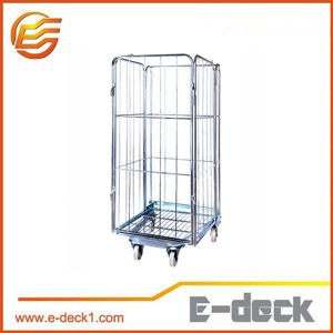 Galvanized Wire Mesh Foldable Stackable Roll Cage