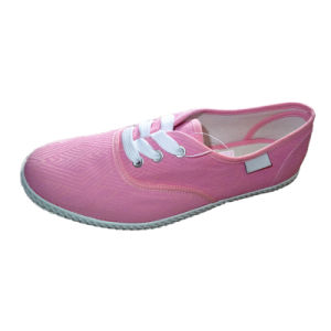 New Sneakers Pink Color Sport Canvas Shoe for Women pictures & photos